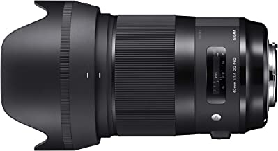 Sigma 40mm f/1.4-1.4 Fixed Prime 40mm F1.4 DG HSM, Black (Canon Mount) (Renewed)