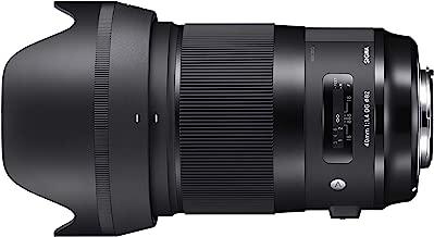 Sigma 40mm f/1.4-1.4 Fixed Prime 40mm F1.4 DG HSM, Black (Canon Mount) (Renewed)
