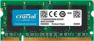 وحدة الذاكرة كروشال DDR2 667MHz (PC2-5300) CL5 SODIMM 200-Pin CT25664AC667