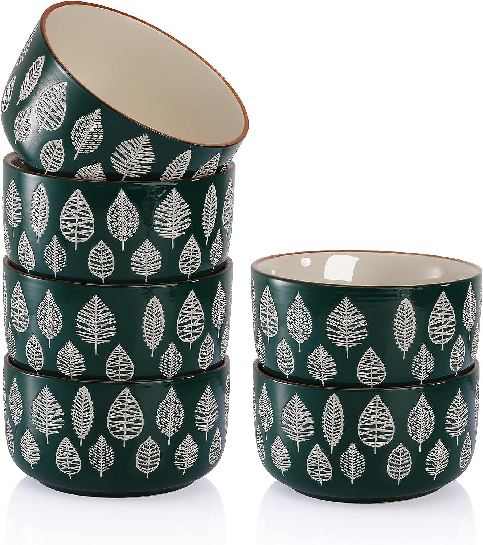 AVLA 6 Pack Ceramic Large Soup 28 Bowl Deep 5 ☆ popular Cereal In a popularity Set OZ