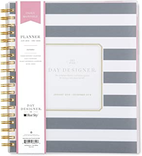 Day Designer for Blue Sky 2018 Daily & Monthly Planner, Twin-Wire Binding, 8