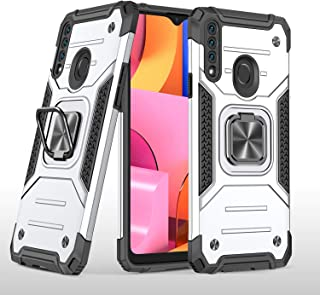 MOONCASE Case for Samsung Galaxy A20S, Shockproof Protective Case with Ring Kickstand Anti-Scratch Dual Layer Protection C...