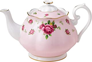 Royal Albert New Country Roses Teapot, Mostly Pink with Multicolored Floral Print