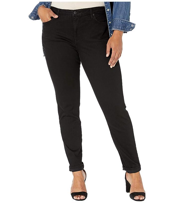 NYDJ Plus Size Plus Size Alina Skinny in Black (Black) Women's Jeans