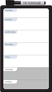 Quartet Magnetic Dry-Erase Weekly Organizer, 6 x 10 Inches, Daily Planner, Frameless (79217)
