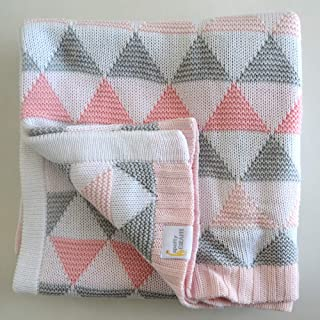 Babyworks Cot Blanket double Knit - PINK TRIANGLE, Piece of 1