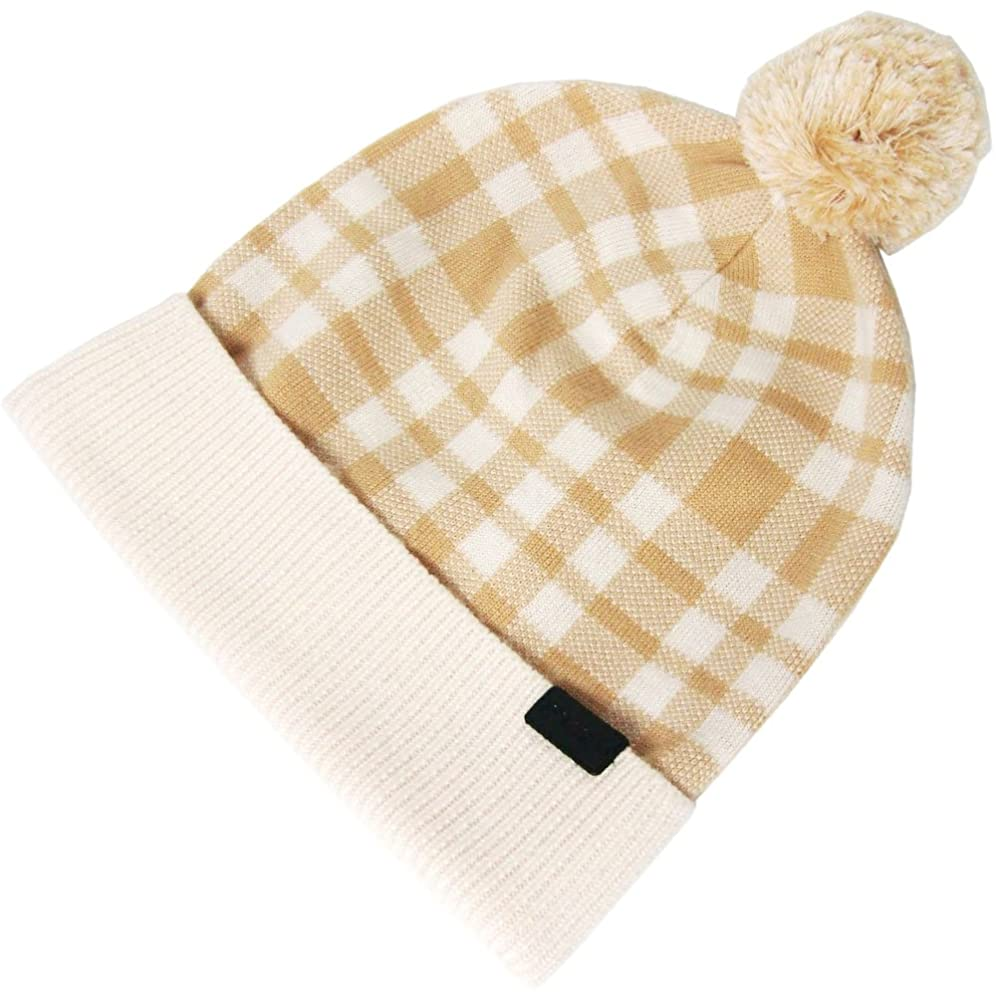 以前は疑い者コースコーチ COACH アパレル 帽子 ニット帽 F20156 プラッド チェック柄 ポンポン ニット ハット/帽子 CAR 【アウトレット】 [並行輸入品]
