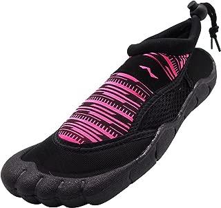 Womens Aqua Shoes - Ladies Quick Drying Water Sports Socks for Beach Pool Boating Swim Surf
