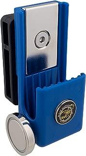 WHOLEGUNS Black Scorpion Gear Competition Magazine Pouch Magnetic Double Stack, USPSA Approved fits Magazine STI SVI 2011 - Blue - TBM3