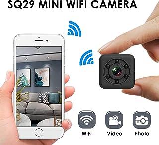 Mini cámara WiFi Cámara espía Inalámbrica Oculta WiFi Seguridad para el hogar Cámara de niñera Grabadora de Video para Interiores/Exteriores Visión Nocturna 30m Impermeable para iPhone/Android