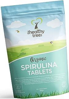 TheHealthyTree Company Tabletas de Espirulina Orgánica - certificadas en el Reino Unido - 300 x 500mg (150g)
