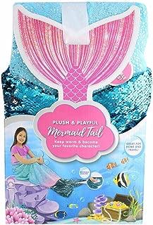 Jay Franco & Sons Plush & Playful 55-Inch Tail Blanket (Ocean Blue Mermaid, 55