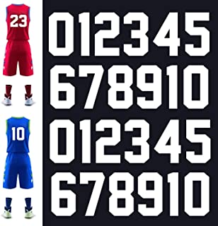 """Pack of 10 x 1½/"""" Iron On Heatpress Football  NUMBERS Shorts Shirts in ROYAL"""