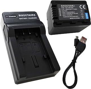 [SIXOCTAVE][最新チップ搭載] Panasonic パナソニック 残量表示可能 VW-VBT380/VW-VBT380-K 互換バッテリー &超軽量 カメラ バッテリー 充電器 USBチャージャー VW-BC10-K VW-BC10 (メーカー純正互換共に充電可能)の2点セット HC-WX1M/HC-WZX1M/HC-VX1M/HC-VZX1M/HC-WXF1M/HC-WZXF1M/HC-VX990M/HC-VZX990M/HC-V210M/HC-V230M/HC-V360M/HC-V360MS/HC-V480M/HC-V520M/HC-V550M/HC-V620M/HC-V720M/HC-V750M/HC-VX980M/HC-W570M/HC-W580M/HC-W850M/HC-W870M/HC-WX970M/HC-WX990M/HC-WXF990M/HC-WX995M/HC-VX985M/HC-W585M/HC-W590M/HC-WZ590M/HC-V480MS/HC-VX992M/HC-VZX992M/HC-WX2M/HC-WZX2M/HC-VX2M/HC-VZX2M