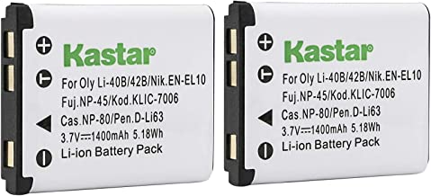 Kastar 2 Pack Battery for Fujifilm NP-45 NP-45A NP-45B and Fuji FinePix J10 J12 J15 J15fd J20 J25 J26 J27 J30 J35 J38 J40 ...