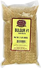 Spicy World Bulgur Cracked Wheat Fine #1, 2 Pound Bag (32oz) - Excellent USA Grown Bulgar Wheat for Tabouleh