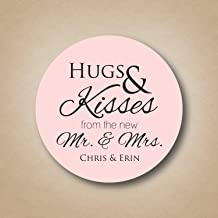 Hugs and Kisses from the new Mr and Mrs Stickers