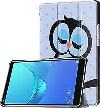 Funda Lobwerk para Huawei MediaPad M5, cubierta inteligente para tableta protectora de 8,4 pulgadas con función de reposo/activación automática, función de soporte y lápiz táctil C5