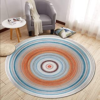 Round Rugs Thin and Light Carpet for Living Room & Bedroom & Computer Chair & Coffee Table & Swivel Chair Non-Slip Short Hairs Mats (Size : 60CM),16