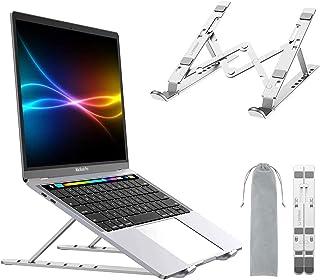 Smilee Laptop Stand Adjustable, Ergonomic Portable and Adjustable Aluminum Laptop Stand for Desk, Cooling Aluminum Ventila...