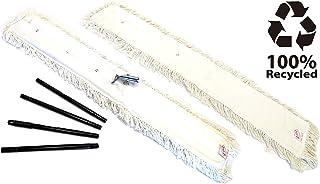 ceda - Mopa de Algodon Reutilizable para Limpieza y Cuidado de Suelos Parqué Valdosas   100 cm + Recambio Mopa + Palo Metalico Desmontable Telescópico 1.40 MTS. Especial Grandes Superficies