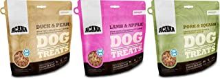 ACANA Singles Dog Treats - Variety Pack of 3 (1-Duck and Pears, 1-Lamb and Apple, and 1-Pork and Squash) 1.25oz Each