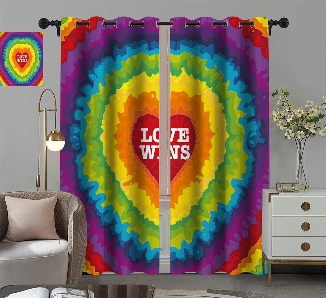 Pride Decorations Light Blocking Window Love C overseas Drapes Cheap mail order sales Valentines