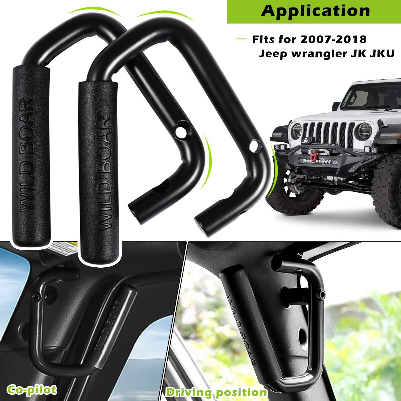 Wild Black Pair 2007-2018 AMERICAN MODIFIED Jeep Wrangler Grab Bar ...