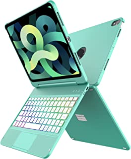 لوحة مفاتيح تاتش باد إير 4 2020، 10 لون Backlit، غطاء فوليو نحيف، لوحة مفاتيح تتبع لآيباد إير الجيل الرابع 2020 (11 بوصة)،...