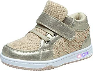 YILAN Toddler Glitter Shoes Girl's Flashing Sneakers with...
