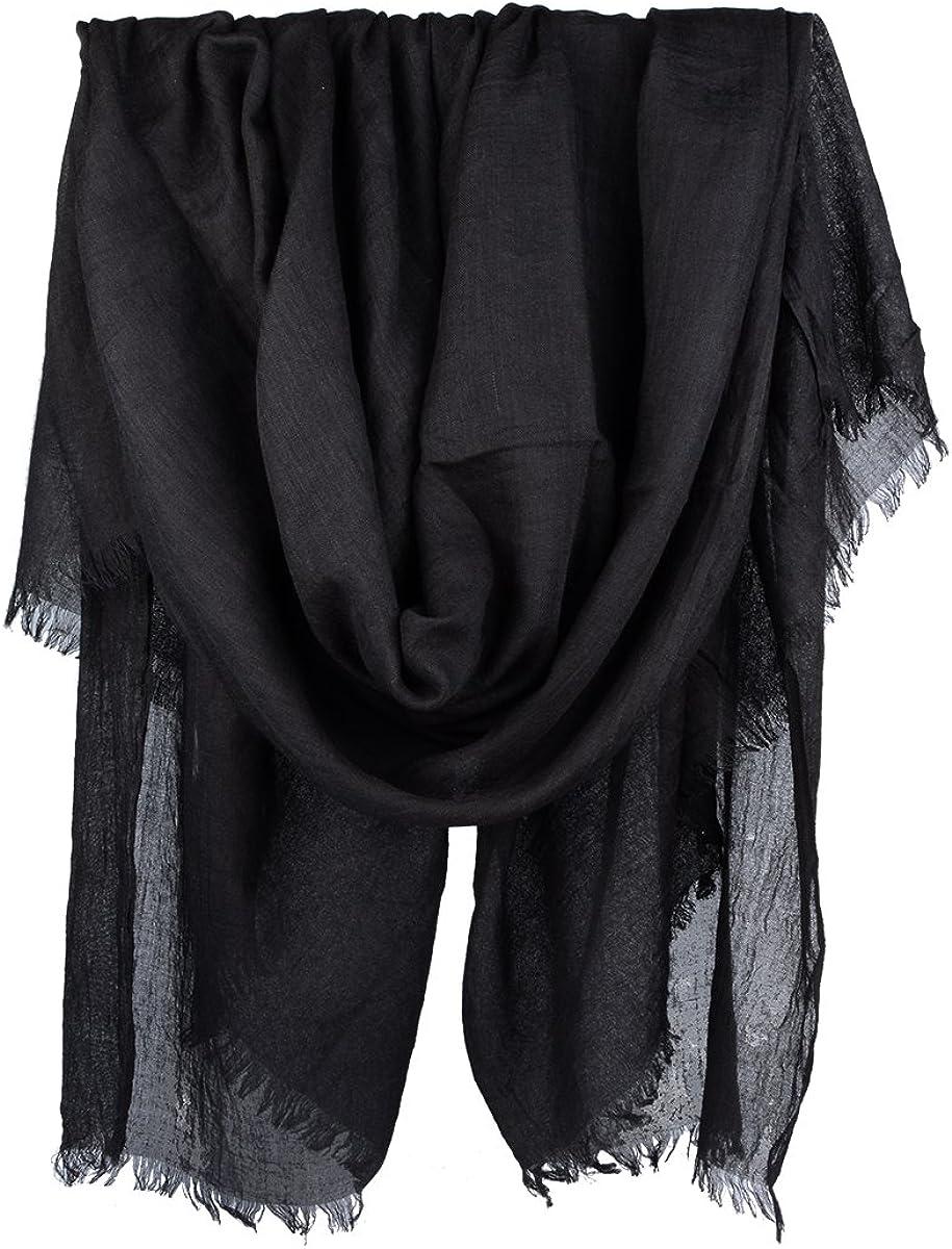 """Iristide Women Summer Scarfs Large Long Lightweight Linen Beach Gauze Shawl Wrap 75""""×43"""""""