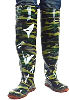 QTDZ Multipurpose Fishing Waders Boots, 80Cm Knee High Rain Shoes with Studs Outsole, Waterproof Durable Breathable Boots ...