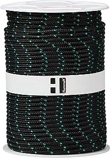 Hummelt SilverLine-Rope Flechtleine Polypropylenseil 6mm 100m schwarz/grün auf Rolle