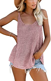 SWEET POISON Women`s Knit Loose Fitting Tank Top Summer Spaghetti Strap Camisole
