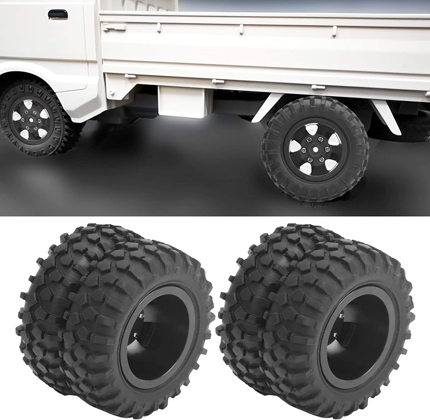 Snufeve 1 10 Wheel New York Mall Tire Good Anti‑Slip Effect Rear Tires RC P Limited time for free shipping