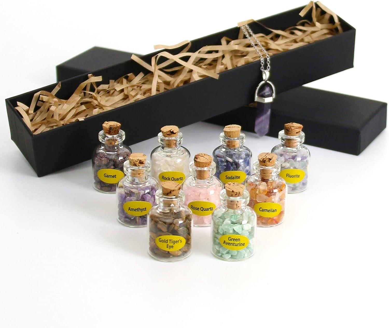Nvzi 9 Mini Gemstone Recommendation Bottles Chip Healing Bombing new work Tumbled Crystal Gem
