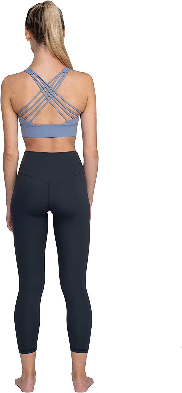 Running Fitness Pilates Blue Aces Strappy Sports Bra for Yoga HIIT Workouts /& Cute Active Women