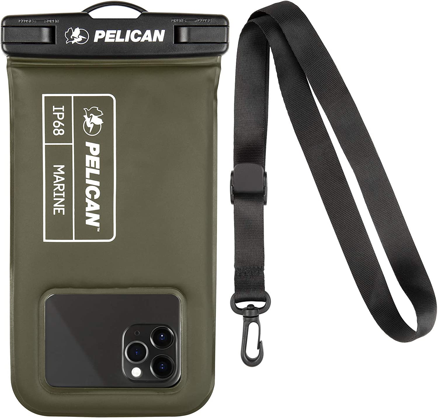 Case-Mate Pelican - Marine Series Waterproof Floating Pouch - Universal Compatibility - Olive Green (PP043304)