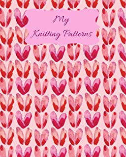 My Knitting Patterns: Knitting Pattern 4:5 Graph Paper Journal. Blank Knitting Book for Designs & Patterns for Knitting Lo...