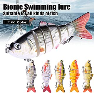 Homthia 5PCS Bionic Swimming Lure Multi Jointed � Suitable for All Kinds of Fish Freshwater Saltwater � Fishing Lures Kit Lifelike