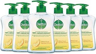 Dettol Handzeep - Citrusgeur verrijkt met 100% natuurlijke oliën - 6 x 250 ml Grootverpakking