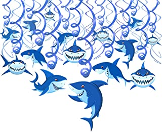 ocean 12 Shark JUMBO Stickers Lollipop goody bags birthday party beach fish