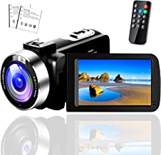 Video Camera Camcorder,Vlogging Camera for YouTube 1080P IR Night Vision Camcorders Camera Recorder 16X Digital Zoom with ...