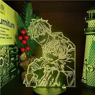 Tatapai Given Mafuyu y Uenoyama LED Anime LAMP 3D luces nocturnas 7 colores cambiantes lámpara de mesa visual para regalo de Navidad – Base negra mando a distancia