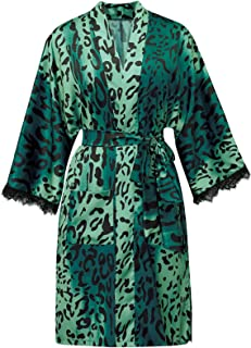 Honeystore Women's Floral Kimono Robe Short Satin Loose Bachelorette Party Gowns