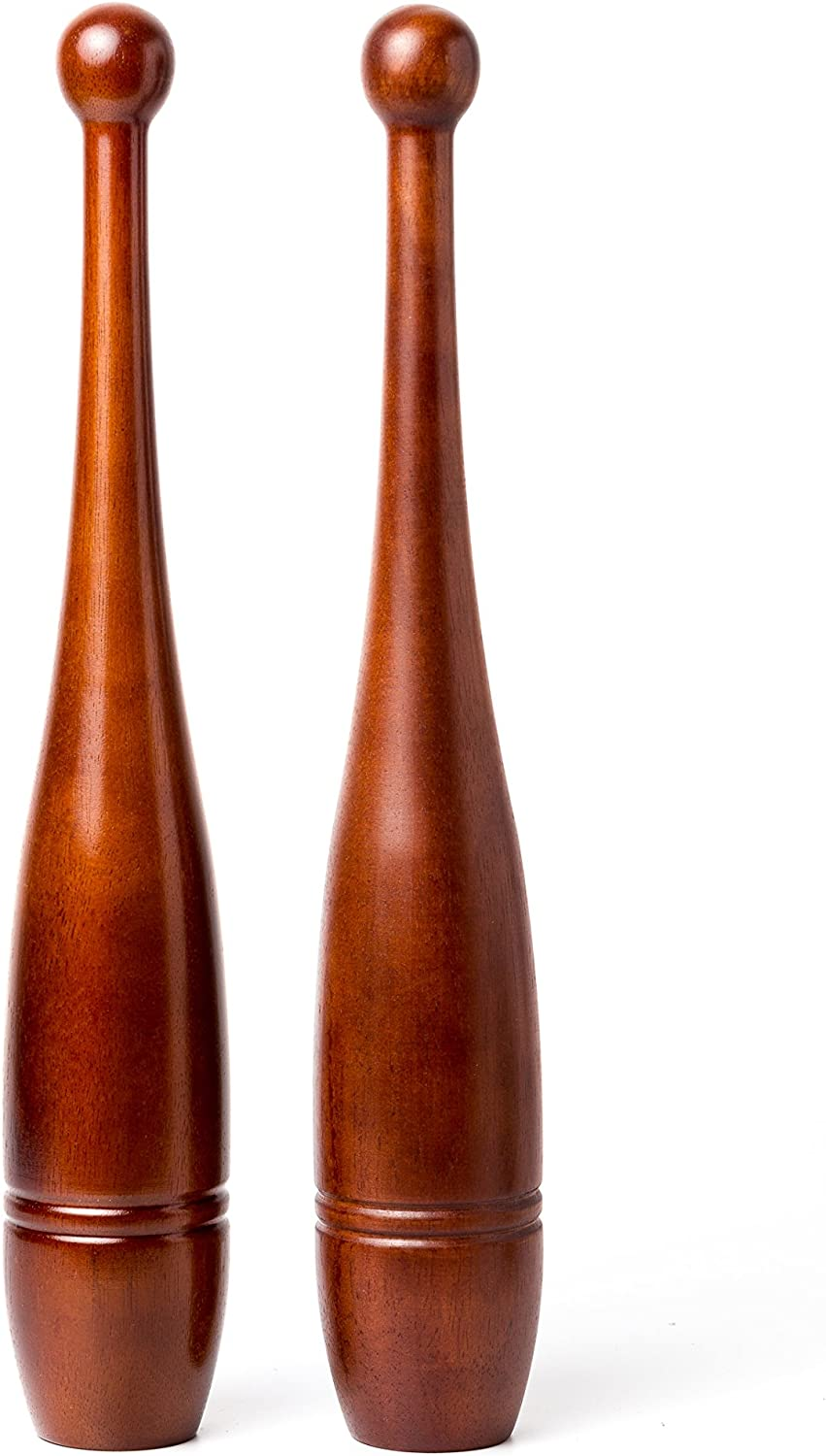 OFFicial mail order Rotational Over item handling Clubs: 2lb Indian Clubs - Pair Solid Oak Wood