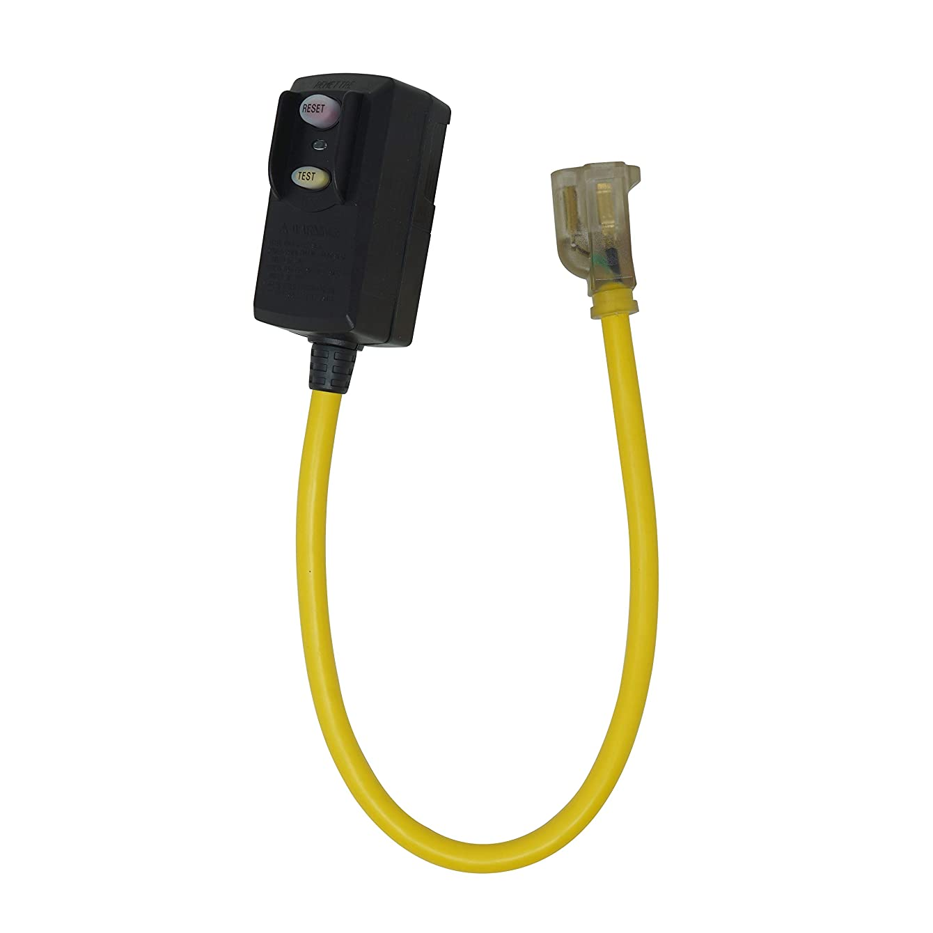 Yellow Jacket 2877 12/3 SJTW GFCI with Lighted End, 2-Feet