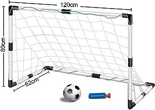 Inside Out Toys Set de portería de fútbol para niños - con 1 portería, Redes y balón - 120 cm x 80 cm