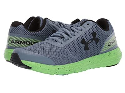 Under Armour Kids UA BGS Surge Running (Big Kid) (Ash Gray/Lime Light/Black) Boys Shoes