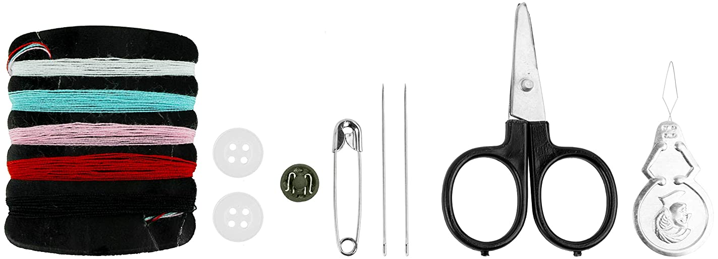 Bare Essentials Sewing Kit for Home, Travel & Emergencies (Gold Lines) ugk77394612
